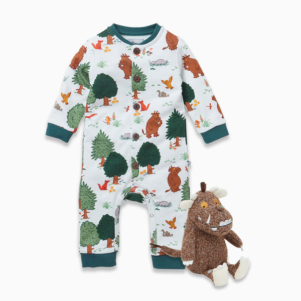 Gruffalo Woodland Jumpsuit & Rattle Play Set