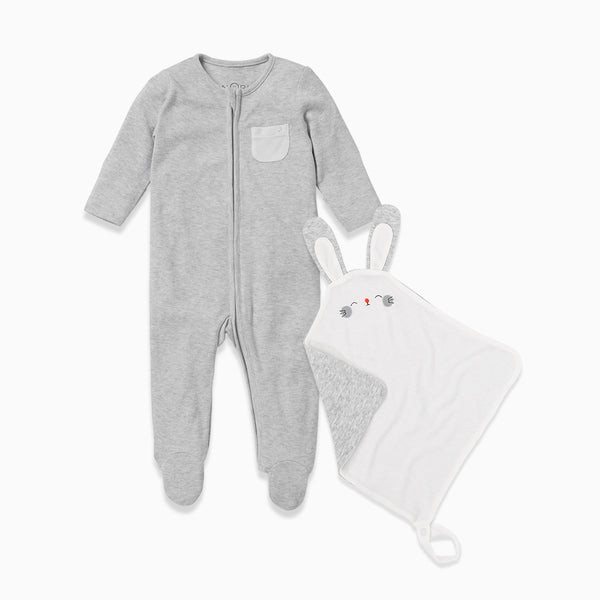 Zip-Up Sleepsuit & Comforter Set