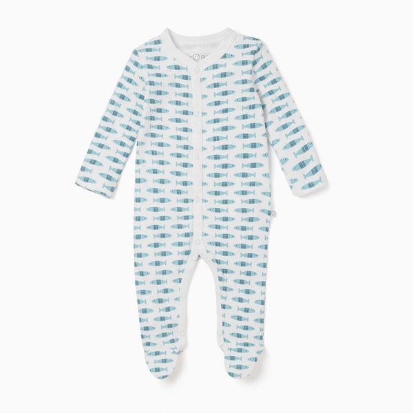 Little Fish Front Opening Sleepsuit