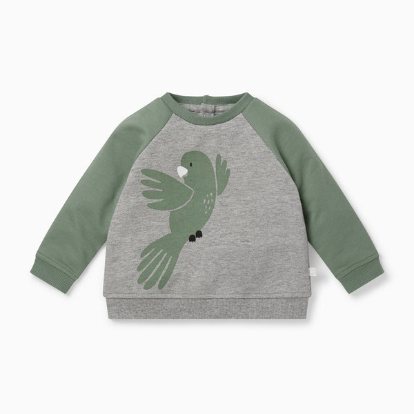 Khaki Bird Sweatshirt