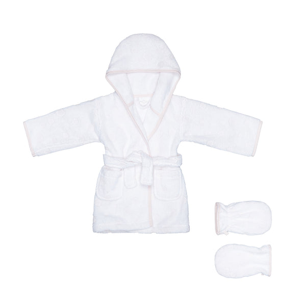 037557ff4f Dotty Bathrobe and Mitt