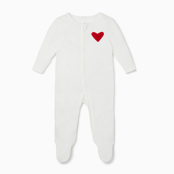 Hearts Zip-Up Sleepsuit