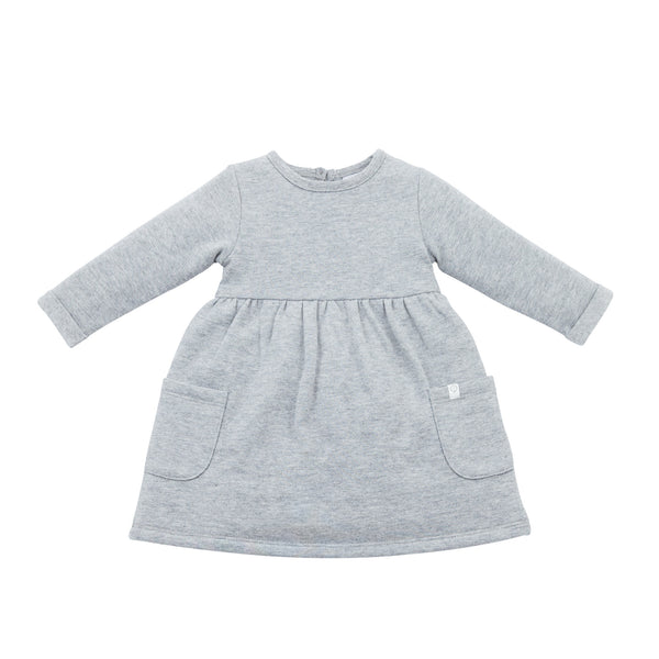 Grey Marl Long-Sleeved Dress