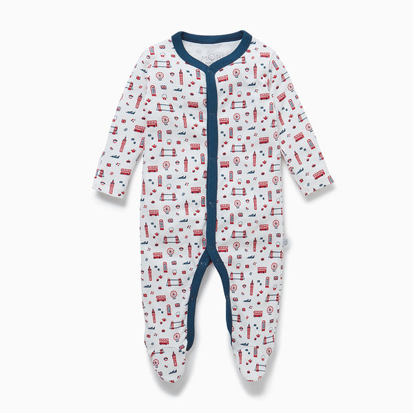 Mini London Front Opening Sleepsuit
