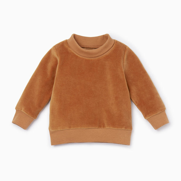 Velour High Neck Sweatshirt