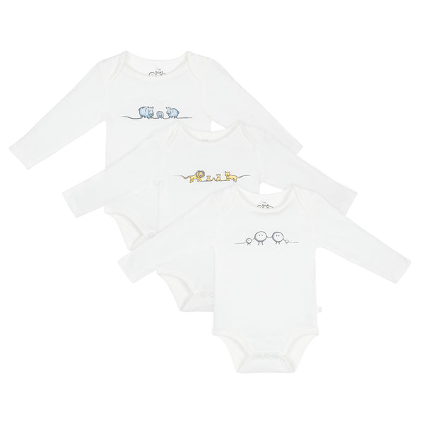 Animal Family Bodysuit 3-Pack