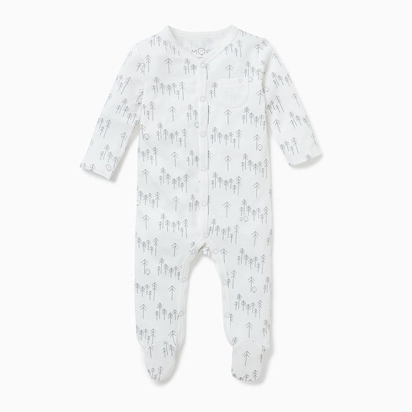 Forest Front-Opening Sleepsuit