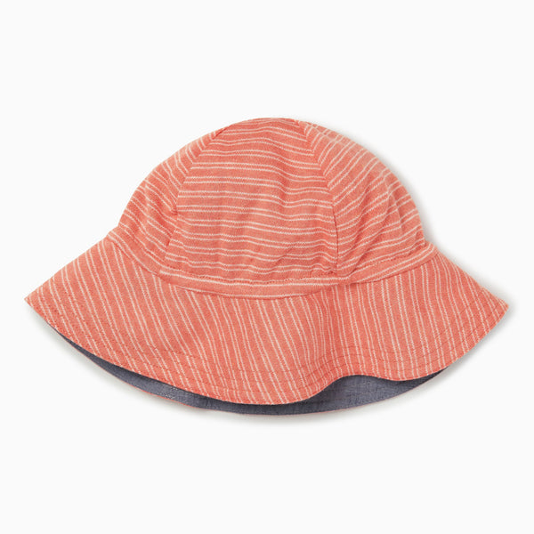 Coral Stripe Reversible Hat