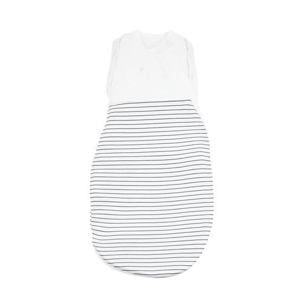 Grey Stripe Newborn Swaddle Bag