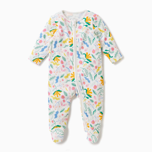 Bloom Zip-Up Sleepsuit