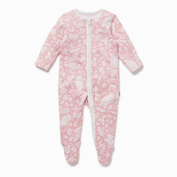 Gruffalo Foxglove Pink Zip-Up Sleepsuit