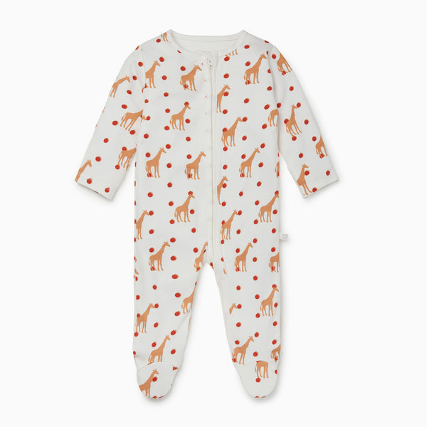 Giraffe Zip-Up Sleepsuit