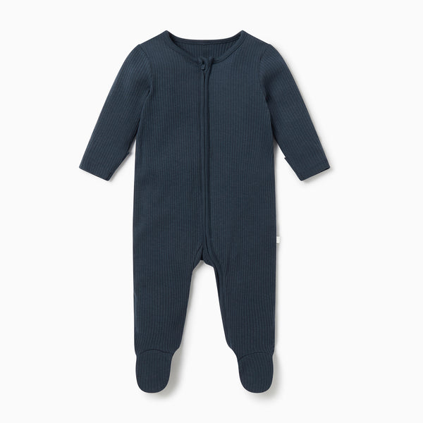 Ribbed Zip-Up Sleepsuit