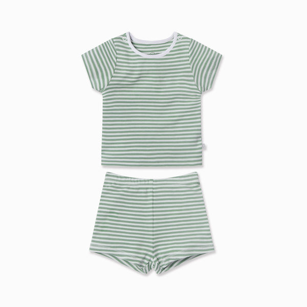 Sage Stripe Summer Pyjamas
