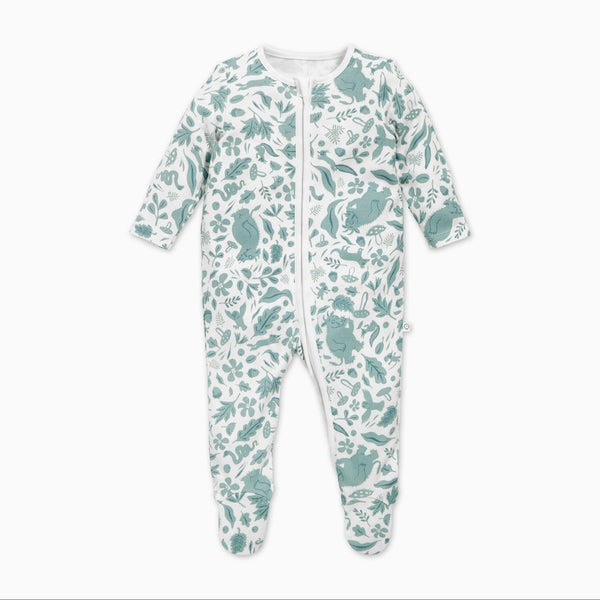 Gruffalo Leaf Green Zip-Up Sleepsuit
