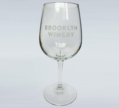 Brooklyn Winery Etched Wine Glass