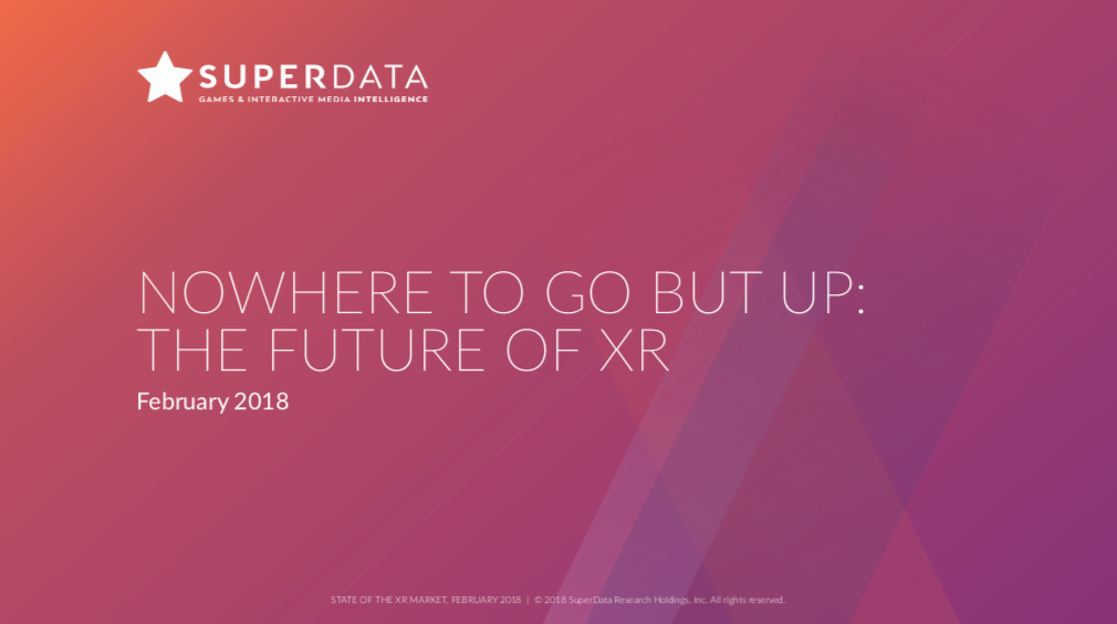 NOWHERE TO GO BUT UP: THE FUTURE OF XR (Virtual Reality, Mixed Reality, Augmented Reality)