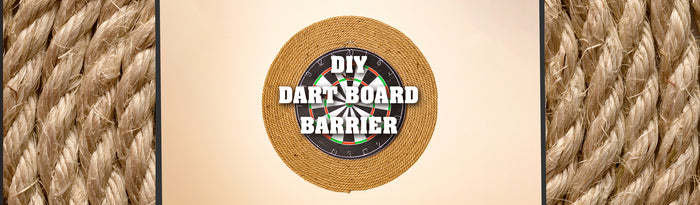 "DIY ½"" Jute Dart Board Barrier"