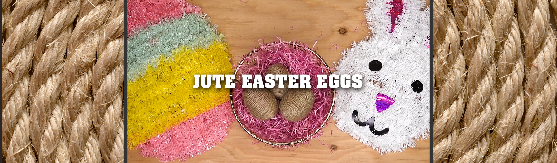Jute Twine Easter Eggs Tutorial
