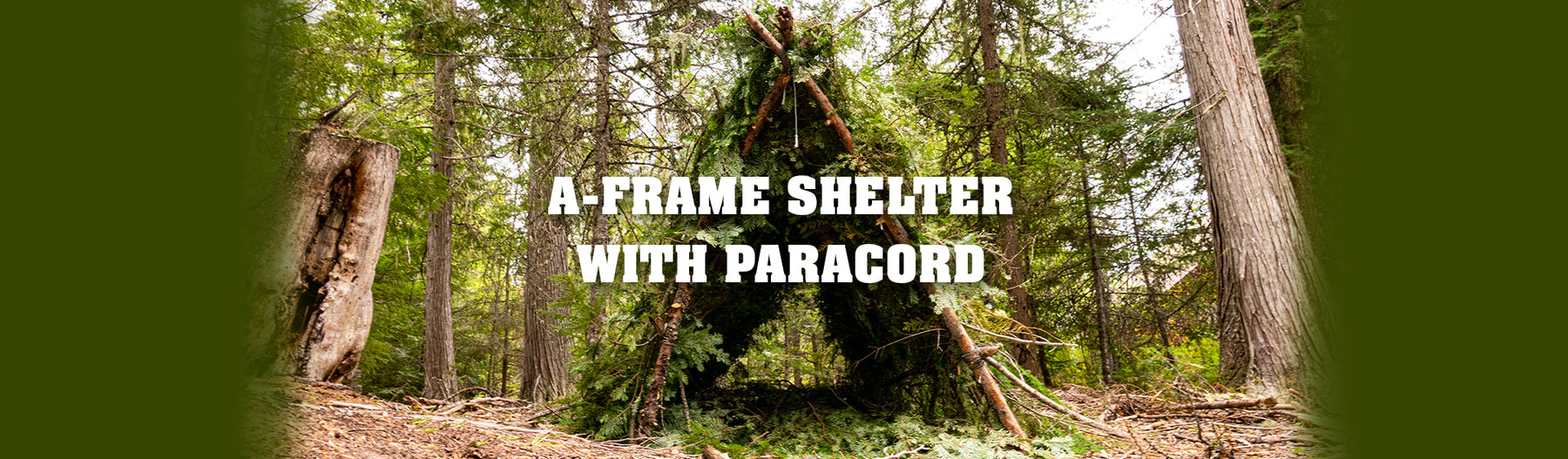 A-Frame Shelter With Paracord