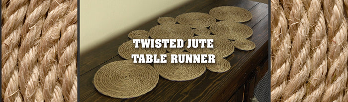 Twisted Jute Rope Table Runner Tutorial