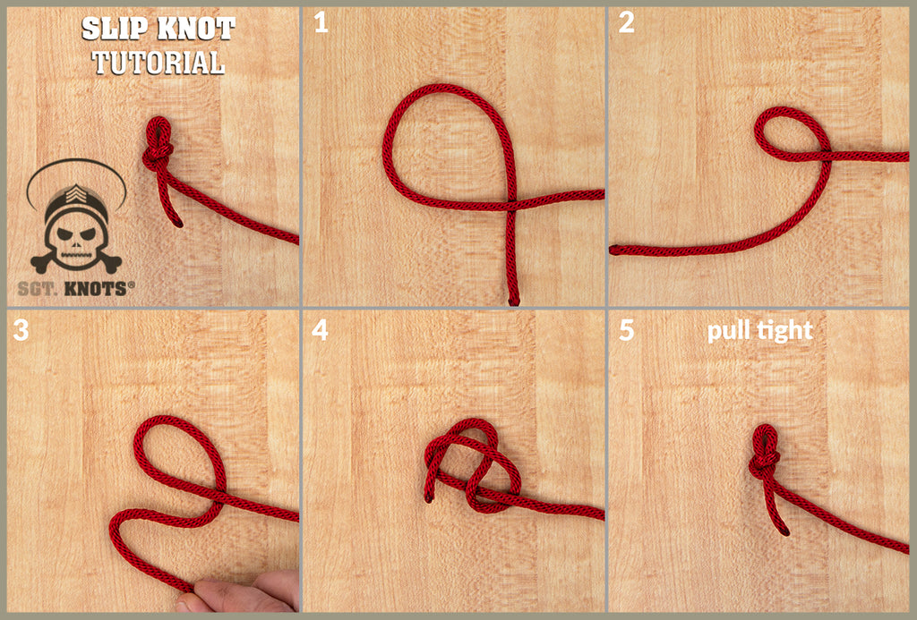 Steps to Tying a Slip Knot
