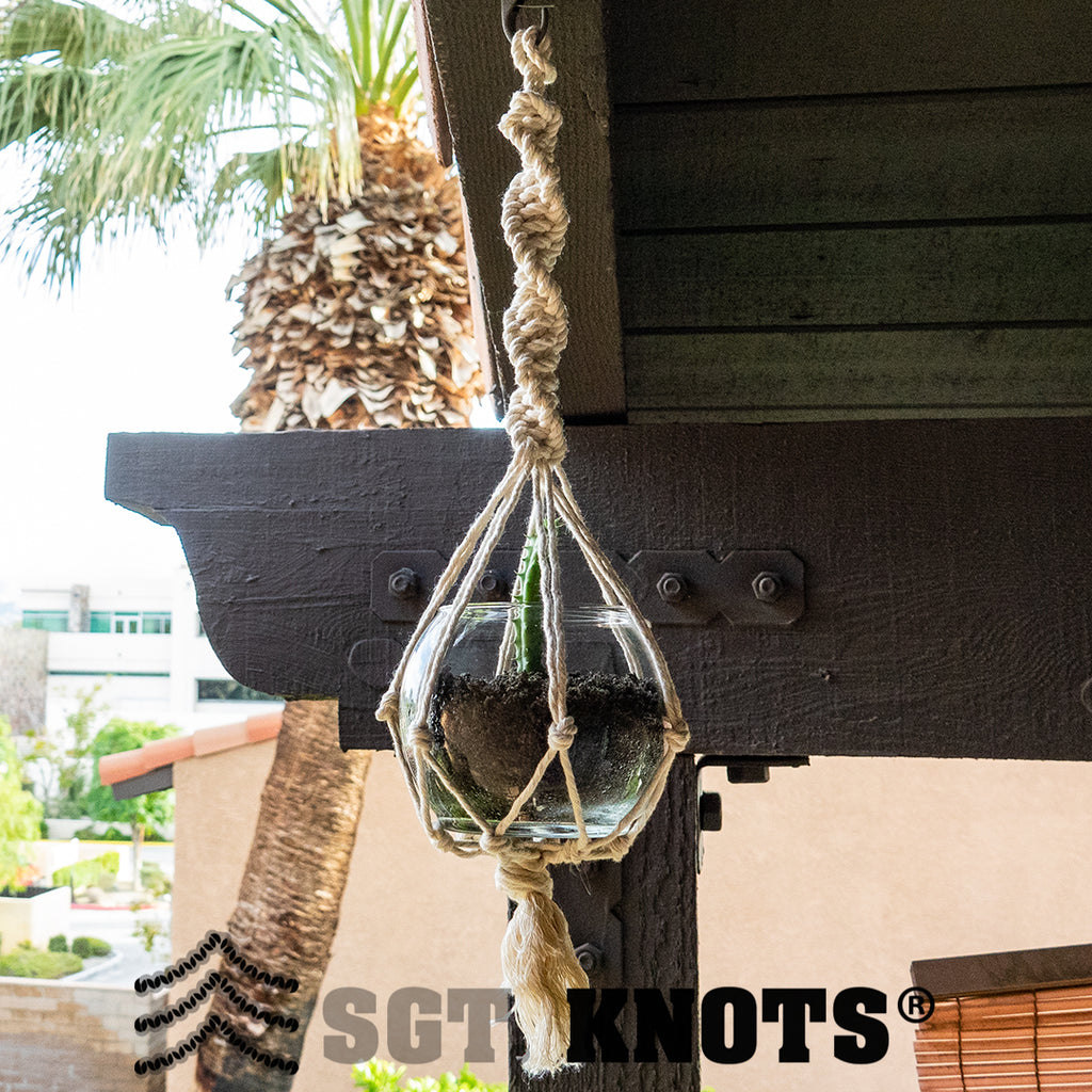 How To Make A Macrame Plant Hanger