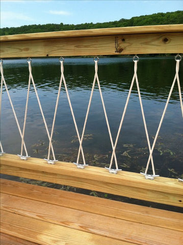 nautical deck railing design with rope
