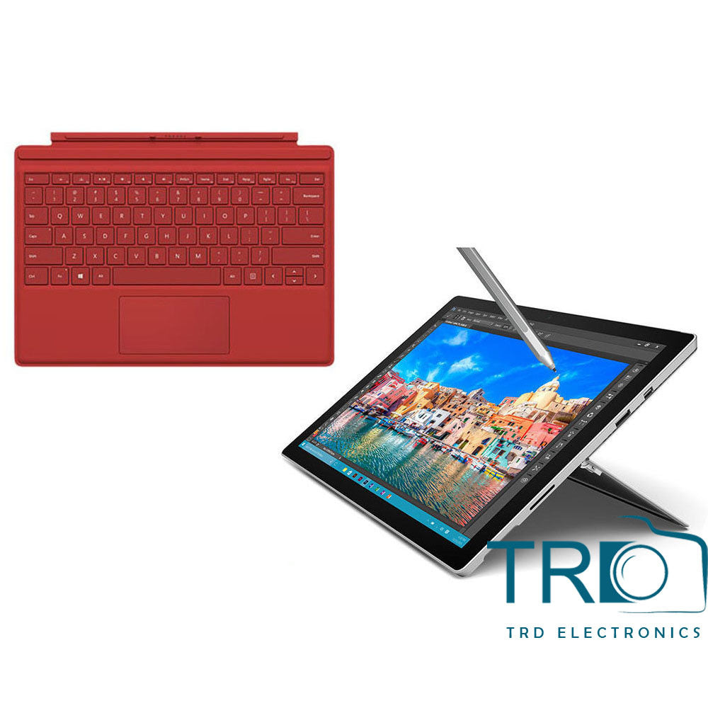 Microsoft Surface Pro 4 128GB Core i5 4GB RAM With Type Cover Red