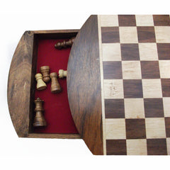 Handmade beautiful Rosewood and Maple deluxe travelling Chess Board