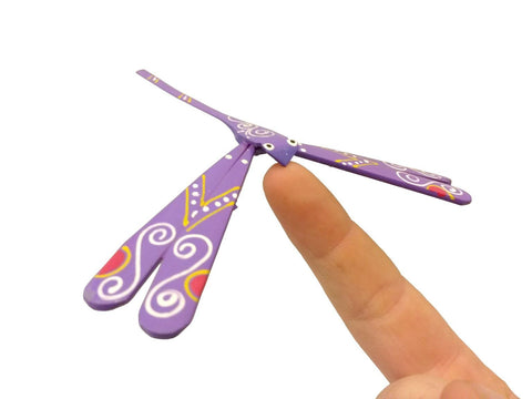 Purple Balancing Dragonfly - small
