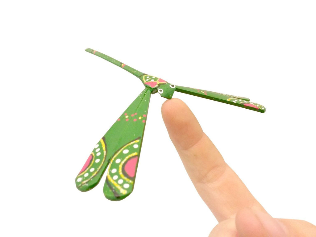 Green Balancing Dragonfly - small