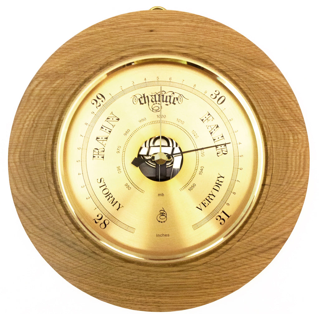 Four Shire Stone Oak Barometer - 21cm