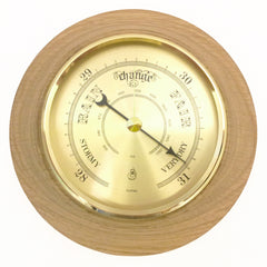 Timber-Treasures Hand Turned Barometer in Great Wolford Oak