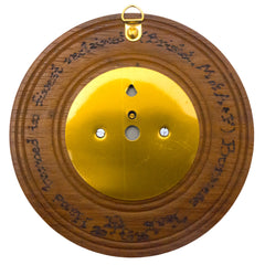 Timber-Treasures Hand Turned Barometer in Reclaimed Burmese Teak