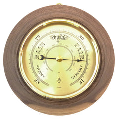 Timber-Treasures Hand Turned Barometer in Dinton Walnut