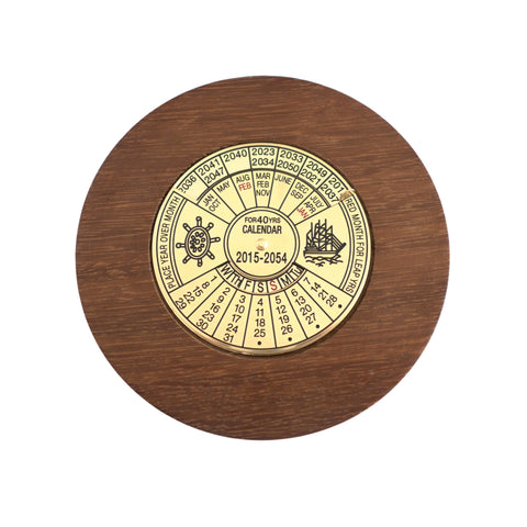 Timber-Treasures 40 Year Calendar in Hand Turned Reclaimed Burmese Teak from Trowbridge