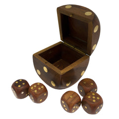 Timber-Treasures Dice Box and Dice