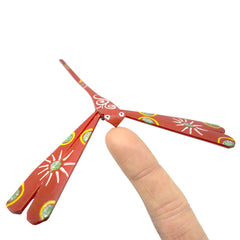Timber-Treasures Hand Made Red Balancing Dragonflies