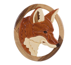 Intarsia Fox Plaque