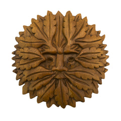Timber-Treasures Hand Carved Green Man Plaque