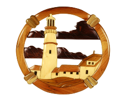 Intarsia Lighthouse Plaque