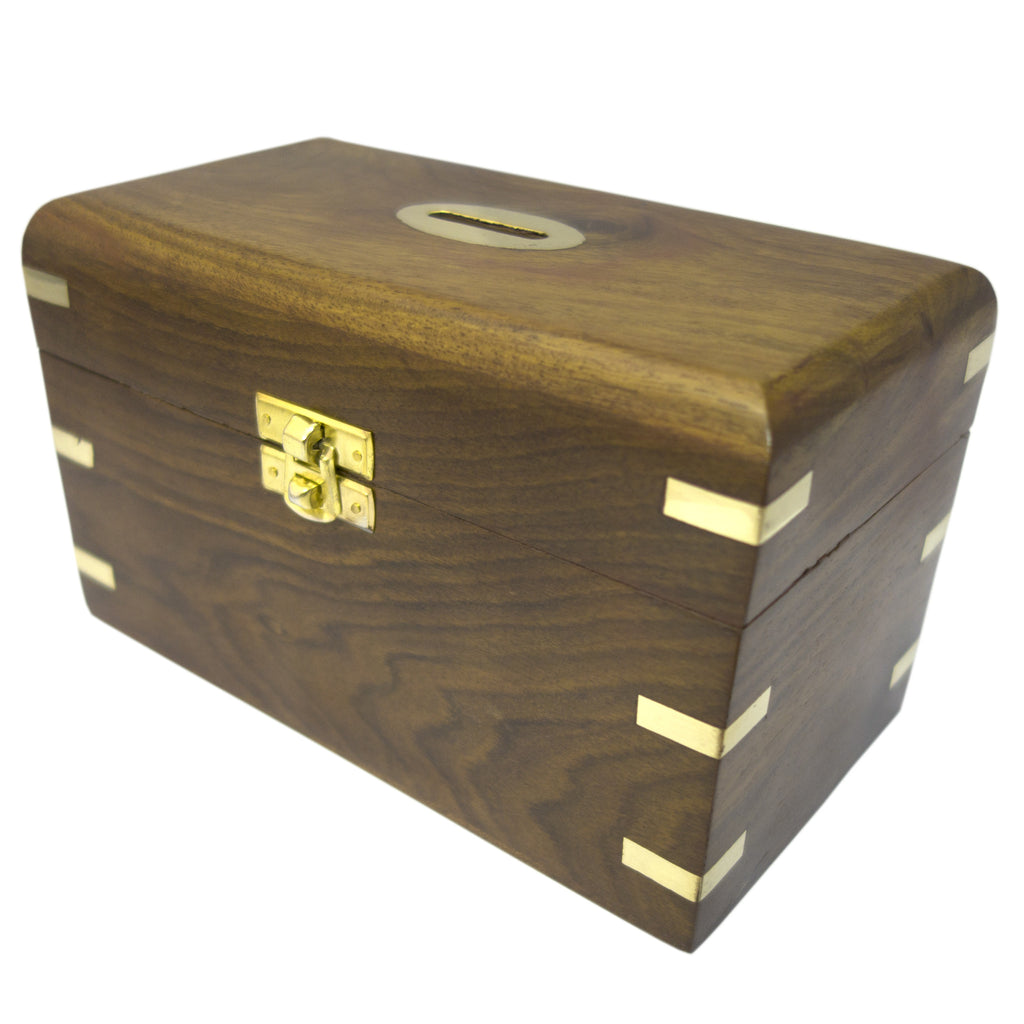 Timber-Treasures Hand Crafted Rosewood Money Box