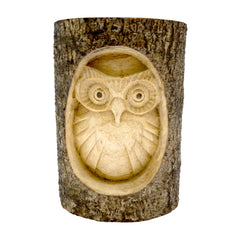 Timber-Treasures Owl in Log Carving