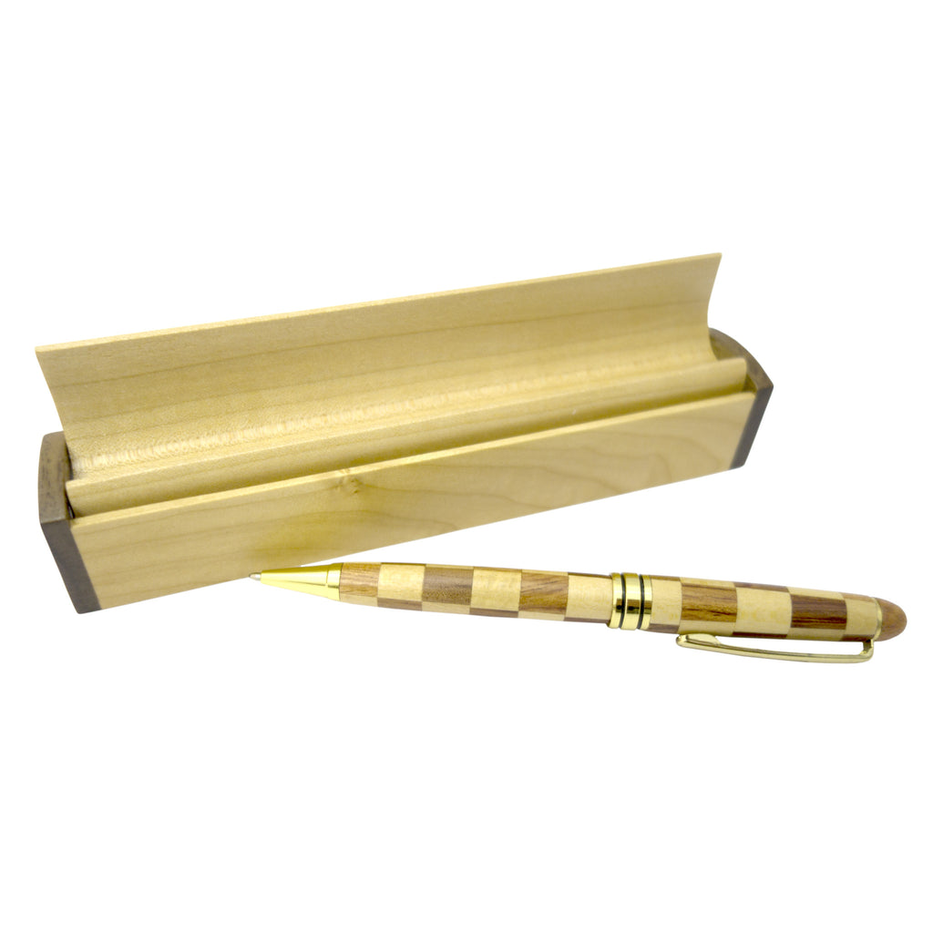 Timber-Treasures Wooden Pen and Display Box