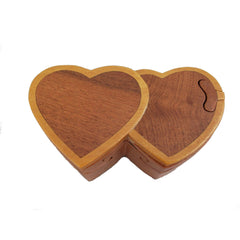 Double Heart Puzzle Box (dark)