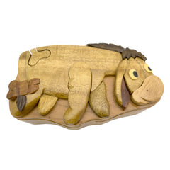 Timber-Treasures Eeyore Puzzle Box