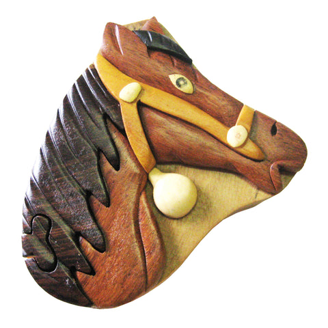 Timber-Treasures Horse Puzzle Box