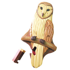 Timber-Treasures Barn Owl Puzzle Box