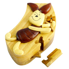 Timber-Treasures Piglet Puzzle Box